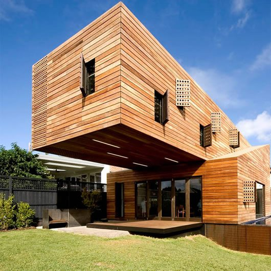 Trojan House Covered in Wood, Melbourne