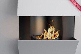 Minimalist Curv Fireplaces by Julien Bergignat
