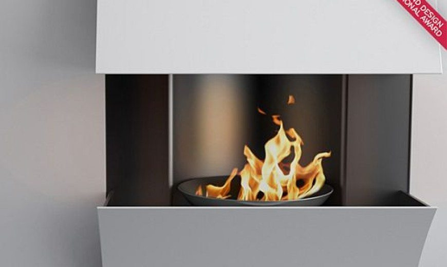 Minimalist Curv Fireplaces by Julien Bergignat