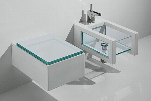 Glass Bathroom Inspiration 1 Glass Bathroom Inspiration by GSG Ceramic Design, Transparently Alluring