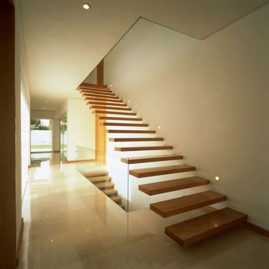 Contemporary stylized home in guadalajara mexico Inside staircase in houses