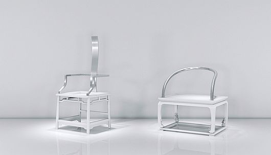 Modish Chairs With Metallic Finish 1 Modish Chairs by Oil Monkey Dazzle With a Metallic Finish