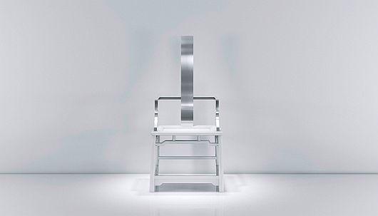 Modish Chairs With Metallic Finish 2 Modish Chairs by Oil Monkey Dazzle With a Metallic Finish