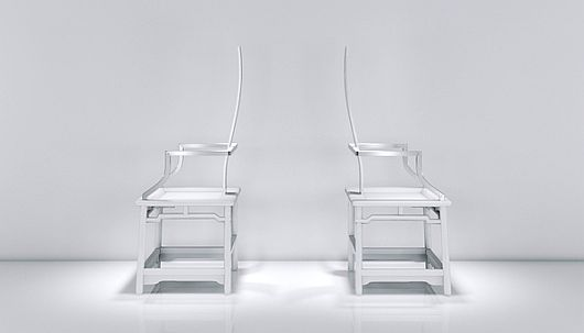 Modish Chairs With Metallic Finish