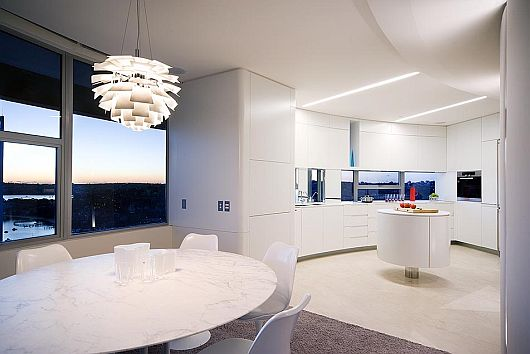 Panoramic Modern Apartment Interiors