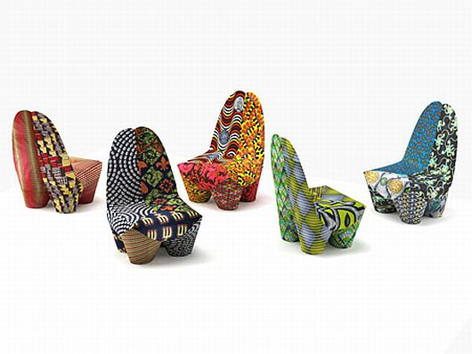 African Inspired Binta Armchairs 1 Binta Armchairs Let You Flaunt Your Love for Hot African Colors