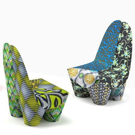 African Inspired Binta Armchairs 2 Binta Armchairs Let You Flaunt Your Love for Hot African Colors
