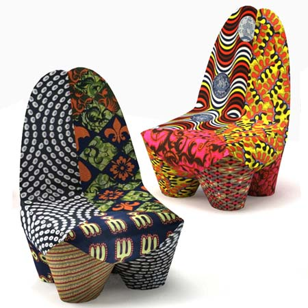African Inspired Binta Armchairs