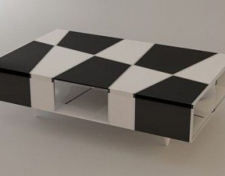Checkered Coffee Table by Svilen Gamolov