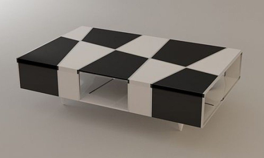 Checkered Coffee Table by Svilen Gamolov