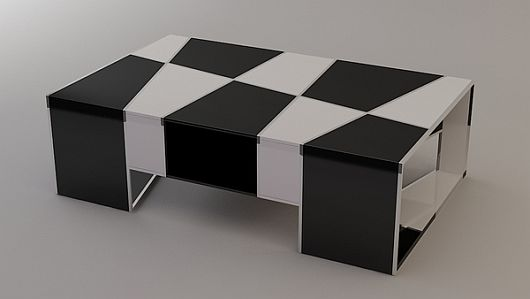 Checkered Coffee Table 6