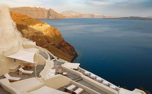 Mystique Hotel in Santorini 1 Mystique Hotel in Santorini oversees Aegean Caldera