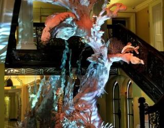Christian Dior Christmas Tree Brings a Wild Habitat to Life