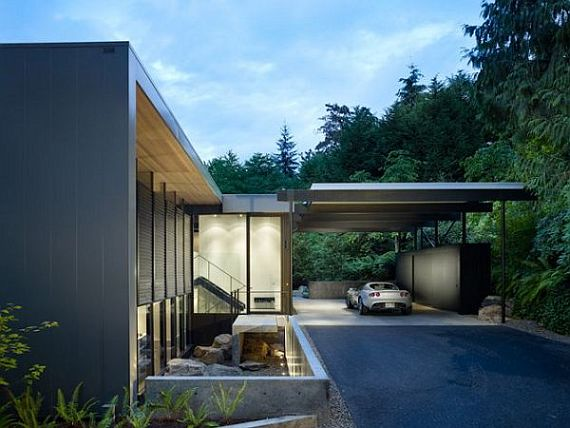 Contemporary Wood Block Residence