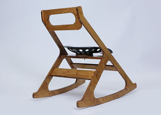 Tracy Rocking Chair by Julien Bergignat 2 Tracy Rocking Chair by Julien Bergignat