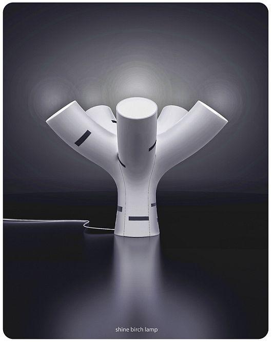 Modern Shine Birch Lamp
