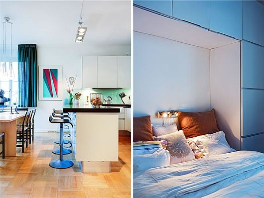 Turquoise Inspiration Colorful Swedish Apartment