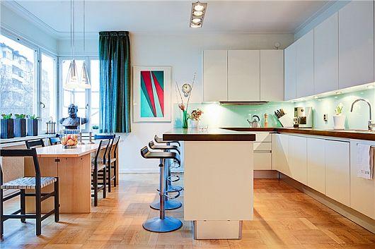 Turquoise Inspiration Colorful Swedish Apartment 8