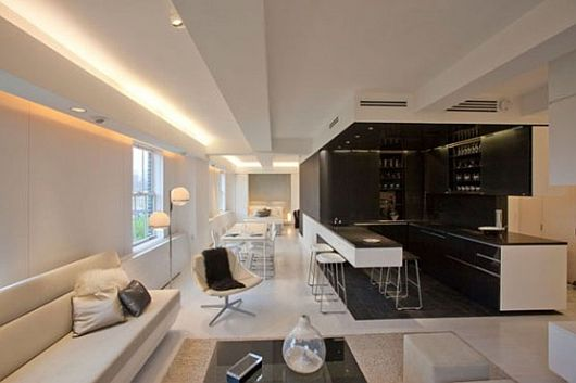 Contemporary Apartment With LED Mood Lighting 1 Contemporary Apartment With LED Mood Lighting