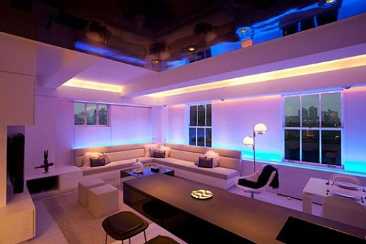 Contemporary Apartment With LED Mood Lighting 2 Contemporary Apartment With LED Mood Lighting