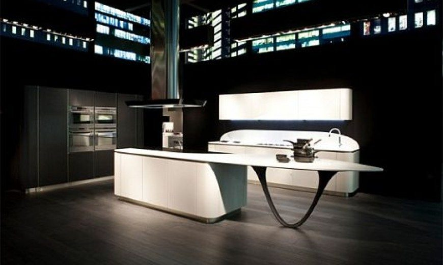 Rounded Kitchen Design by Snaidero, Biting Into the Future