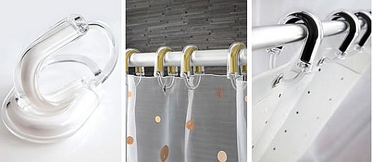 High-end shower curtain rings