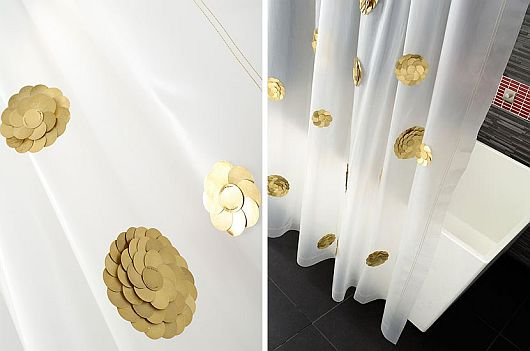 High-end shower curtains