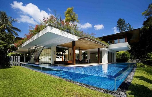 Tangga House in Singapore 1 Guz Architects Tangga House in Singapore a walk from under water til up on the hill