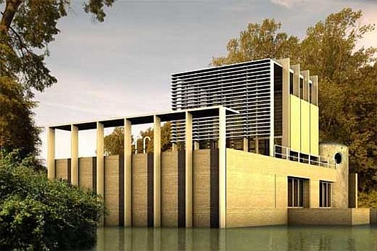 Antonio Cardillo house in Nimes 1 Antonio Cardillo house in Nimes: modern house or lake monument