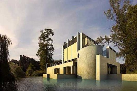 Antonio Cardillo house in Nimes 2 Antonio Cardillo house in Nimes: modern house or lake monument
