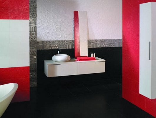 Trendy bathroom tiles by keros for Trendy bathrooms