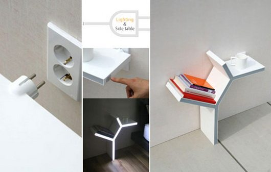 plug in table 3 Plug in Side table by Sung Pil Hwang   cant ask for more