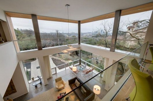 Texas city view residence by dick clark architecture - Maison contemporaine dick clark architecture ...