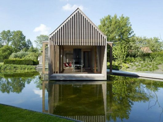 Wim goes lake house wooden pavillion in ghent belgium for Lakehouse homes