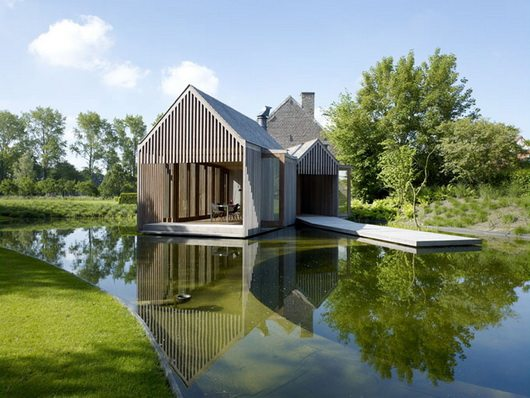wim goes lake house 5 Wim Goes Lake House, wooden pavillion in Ghent, Belgium