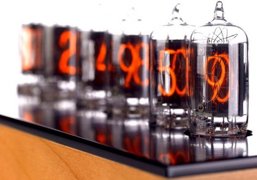 nixie 2 Nixie tube clock, retro and industrial