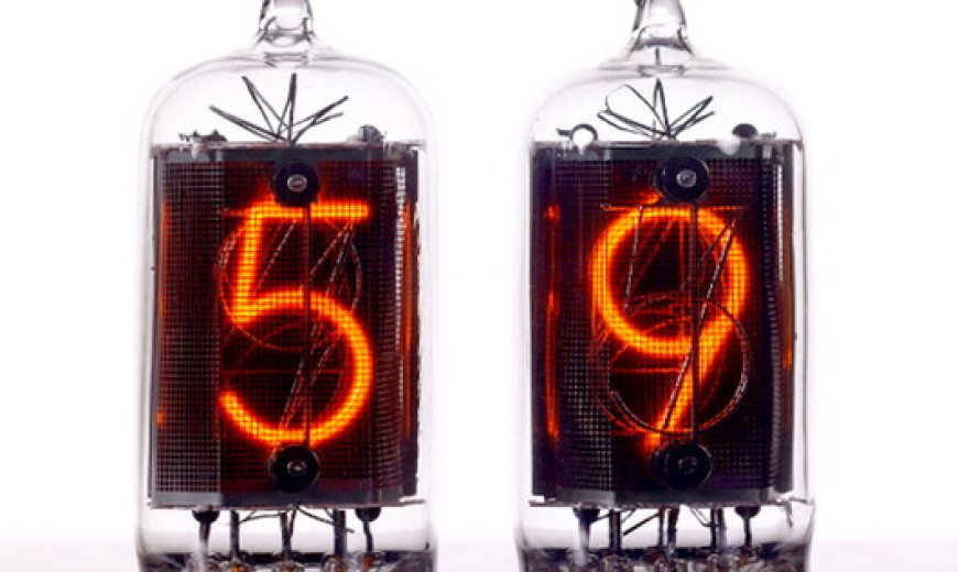 Nixie tube clock, retro and industrial