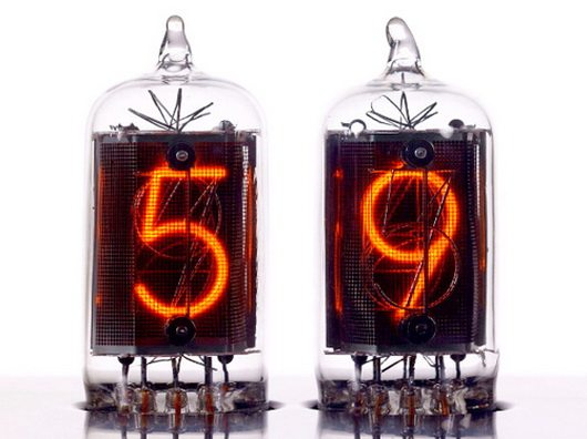 nixie 3 Nixie tube clock, retro and industrial