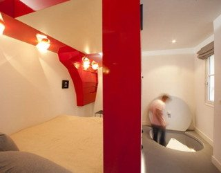Red Nest: Bed-and-office all in one, small space solution