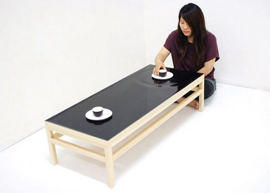 ripple table 1 Ripple Effect tea table by Jeonghwa and Chung