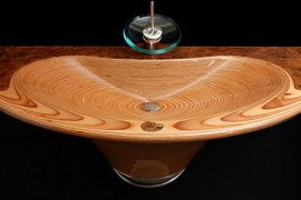 Elegant wooden sinks by Markus Horner