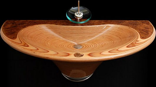 sink 8 Elegant wooden sinks by Markus Horner
