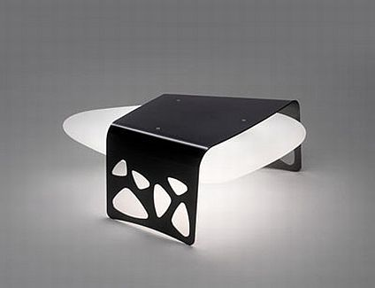 Almalight Outdoor Lamp Stone Lamp 2 Stone Table by Almalight   Lighting Installation Inspired by Nature