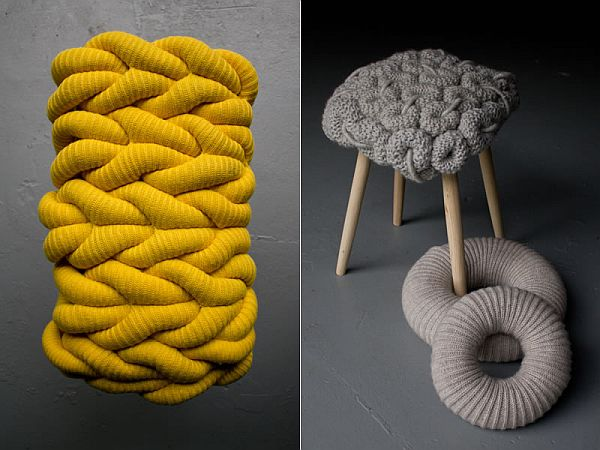 Knitted Chairs by Claire-Anne OBrien 5