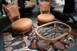Snake Mirror and Giraffe Stools; Animal Instinct in Furniture Design