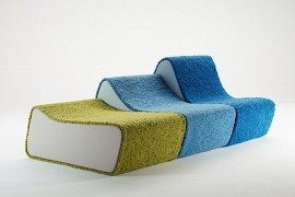 Beautiful Surfer Sofa Broken Into Individual Pieces
