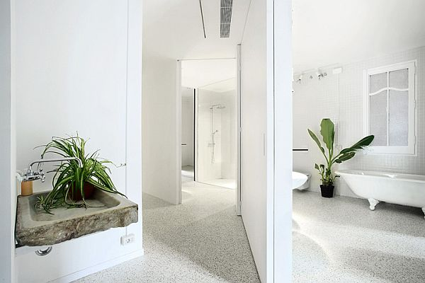 White Renovated Apartment in Barcelona 2