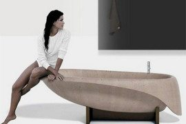Beautiful modern concrete tub by Rossi
