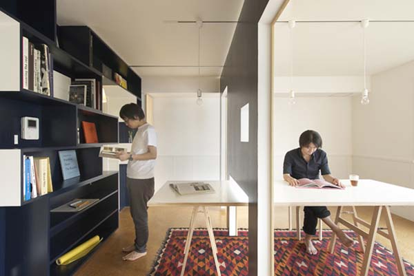 Apartment Office transforming a small apartment into a home office/living space hybrid