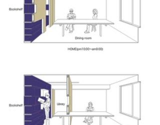 Transforming a small apartment into a home office/living space hybrid